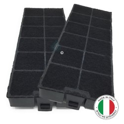 2 Filtres anti-odeur au charbon actif pour hotte - Type FCH260 - ACM26 - 49016876 - 49016877