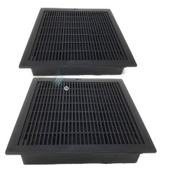 2 Filtres anti-odeur au charbon actif pour hotte - Type CARBFILT9  02825263