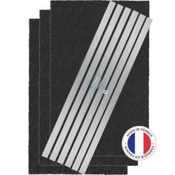 3 Filtres Anti-Odeur Au Charbon Actif - Compatible De Dietrich AK550AE1 71X0729
