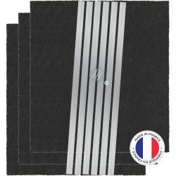 3 Filtres Anti-Odeur Au Charbon Actif - Compatible Brandt Sauter De Dietrich 74X0998